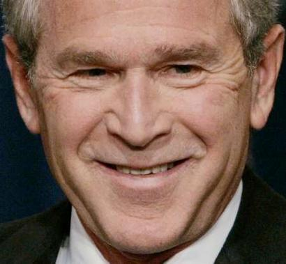 George W. Bush… hard act to